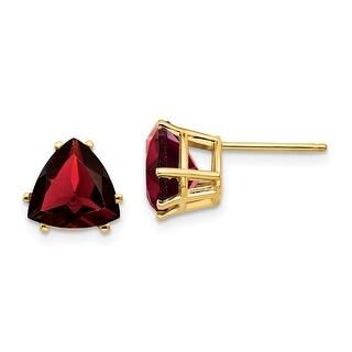 Link to 14K Yellow Gold 8mm Garnet Post Earrings by Versil Similar Items in Earrings