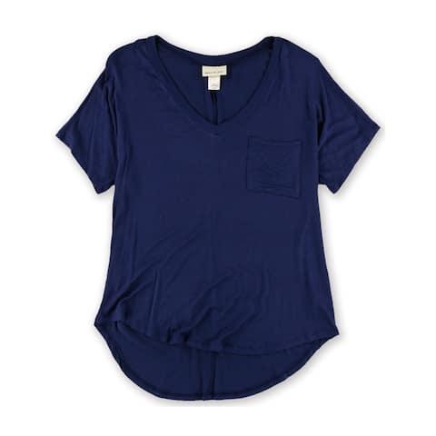 Belle Du Jour Womens Solid Pocket Graphic T-Shirt