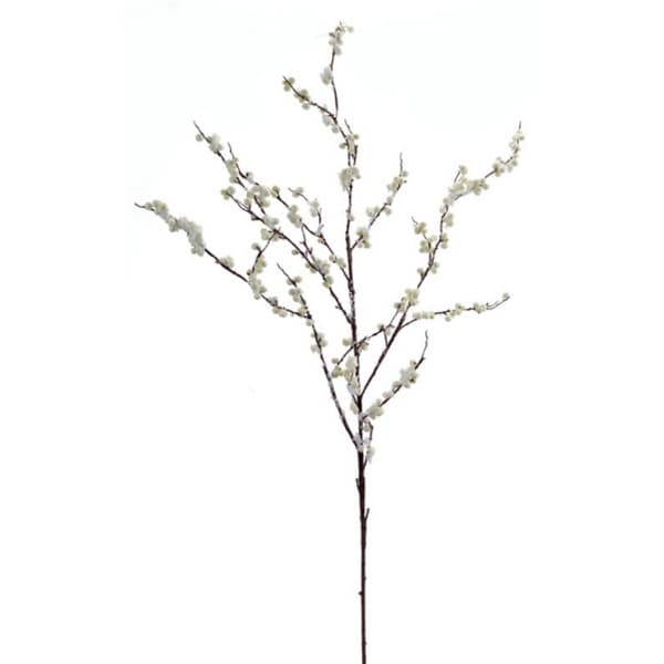 Pack of 6 Ivory White Artificial Christmas Branches with Snow and Berries 42""