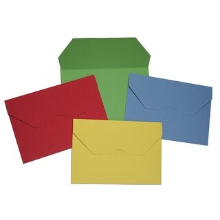 NECI Flat Jacket with Interlocking Flap, Legal, Assorted Colors, Pack of 40