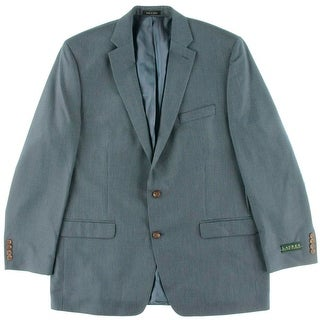 Lauren Ralph Lauren Mens Houndstooth Notch Collar Two-Button Blazer - 42R