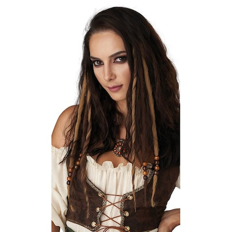 Honey Brown Clip-in Hair Dreads - One Size Fits Most