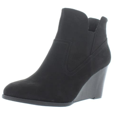 Madeline Womens Fantasyland Ankle Boots Faux Suede Chelsea - Black - 11 Medium (B,M)