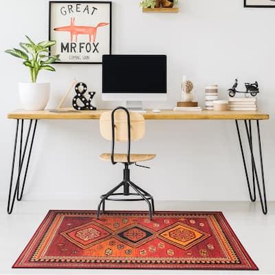 My Magic Carpet Machine Washable Rug Phoenix Kilim Garnet
