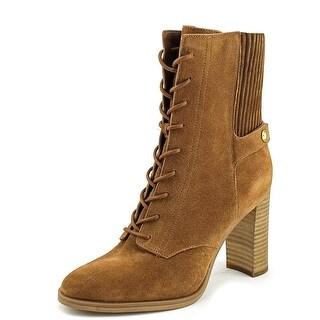 Michael Michael Kors Carrigan Bootie Women  Round Toe Leather Tan Bootie