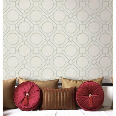 Seabrook Designs Koi Silk Road Trellis Unpasted Wallpaper