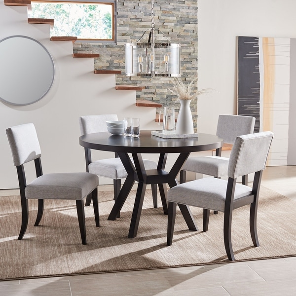 """Safavieh Couture Luis Round Wood Dining Table - 47.5"""" W x 47.5"""" L x 30"""" H. Opens flyout."""
