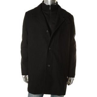 Kenneth Cole New York Mens Wool Blend Long Sleeves Coat - 40L