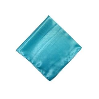 "Mens Solid Color Pocket Squares Wedding Handkerchiefs - 17"" x 17"""