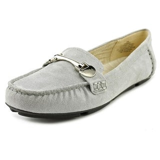 Anne Klein Meg Moc Toe Canvas Loafer