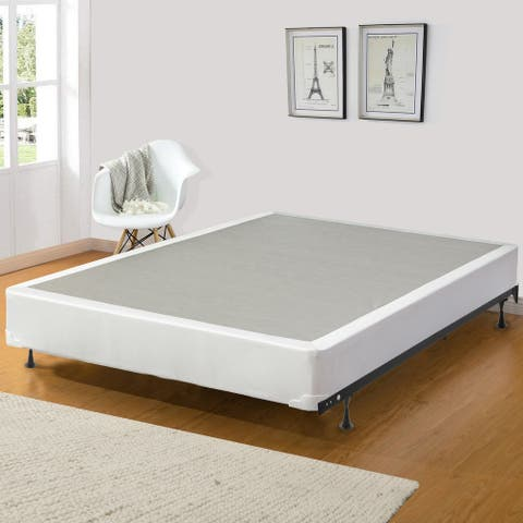 8-Inch/4-Inch Fully Assembled Wood Traditional Box Spring/Foundation For Mattress.