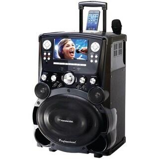"Karaoke Usa Gp978 Professional Dvd/Cd+G/Mp3+G Bluetooth(R) Karaoke System With 7"" Tft Color Screen & Tote Wheels"