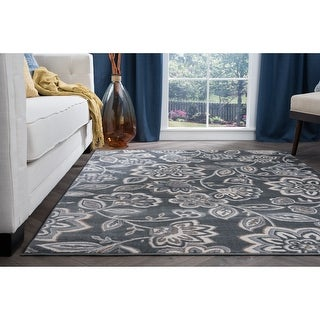 Link to Alise Rugs Carrington Transitional Floral Area Rug Similar Items in Shabby Chic Rugs