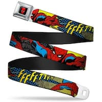 Marvel Comics Spider Man Full Color Spider Man Ffffftttt Webbing Seatbelt Seatbelt Belt