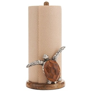 Turtle Paper Towel Holder - By Mud Pie - 5.5 in. x 5.5 in. x 12.5 in.