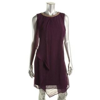 MSK Womens Embellished Sleeveless Cocktail Dress - 12