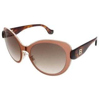 Balenciaga BA0002S 72F Rose/Dark Havana Round sunglasses