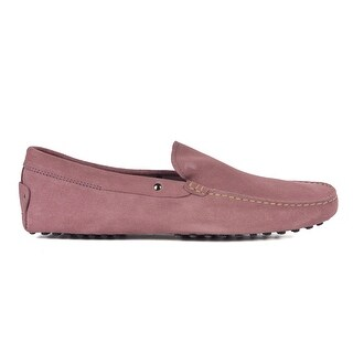 Tod's Men's Pink Suede Driving Slip On Loafers