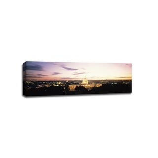 Washington DC - Cityscapes - 36x12 Gallery Wrapped Canvas Wall Art