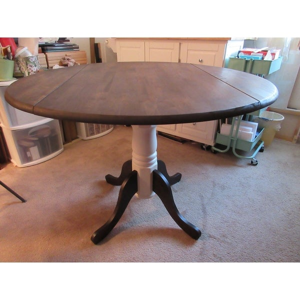 Unfinished 42 Inch Round Dual Drop Leaf Dining Table   Free Shipping Today    Overstock.com   16539214