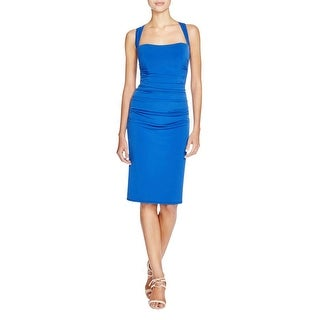 Laundry by Shelli Segal Womens Cocktail Dress Ruched Cross Back