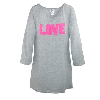 Roll Outta Bed Women's Scoop Neck Nightshirt with Sherpa Accents