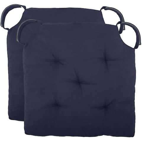 Cottone Polyfill Fiber Chair Pads w/5 Velcro Tucks (Set of 12)