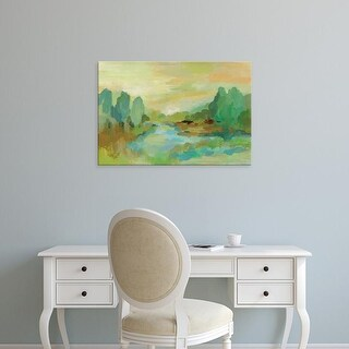 Easy Art Prints Silvia Vassileva's 'Jade Forest' Premium Canvas Art