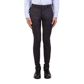 Dior Homme Men's Wool Slim Fit Cargo Dress Trousers Pants Grey (2 options available)