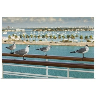 """""""Biscayne Bay seen from cruise ship's deck"""" Poster Print"""