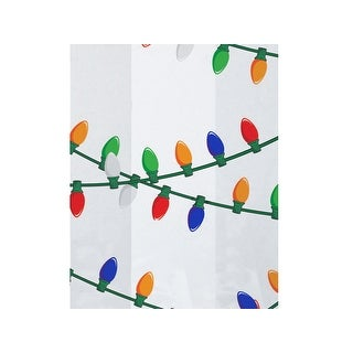 "Pack Of 100, 5 X 3 X 11"" 1.2 Mil Hanging Lights Christmas Print Cello Bags 5 Cups Made In Usa"