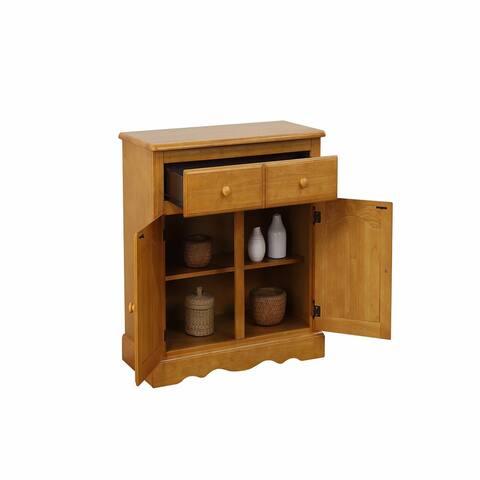 """37.50"""" Beige Keepsake Buffet Cabinet"""