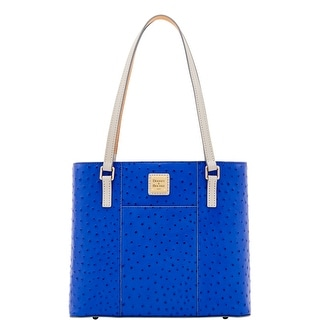 Dooney & Bourke Ostrich Small Lexington (Introduced by Dooney & Bourke at $228 in May 2017) - cobalt light grey