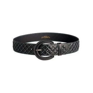 Noble Outfitters English Belt Womens Classic Quilted Stitched 29508