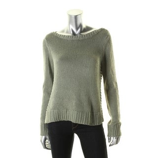 Lauren Ralph Lauren Womens Pullover Sweater Ribbed Trim Bateau Neck