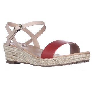Corso Como Cape Esadrille Wedge Sandals - Red/Sand/Sand