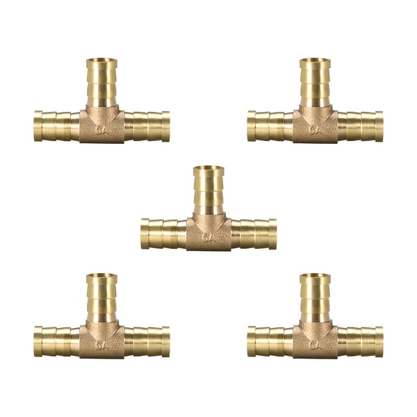 "15/32"" Brass Barb Hose Fitting Tee 3Way Connector Joiner Air Water Fuel Gas 5pcs - 12pcs 5pcs"