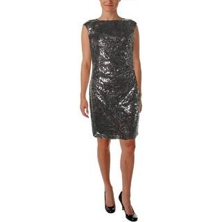 Lauren Ralph Lauren Womens Sequined Prom Cocktail Dress