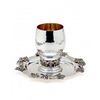 Godinger 7430 Grape Kiddush Cup with Tray