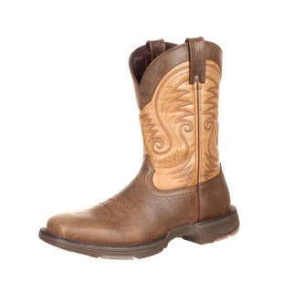 Durango Western Boots Mens Ultralite Square Toe Rocker Brown DDB0109