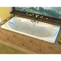 "Avano AV3672WWR Abaco 71-1/2"" Acrylic Whirlpool Bathtub for Drop-In Installations with Center Drain - White - N/A"