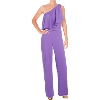 Lauren Ralph Lauren Womens Badsidra Jumpsuit One Shoulder Asymmetrical