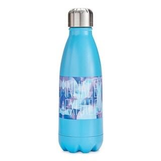 Work Inhale Exhale Water Bottle Stainless Steel Graphic - Blue - 12 oz