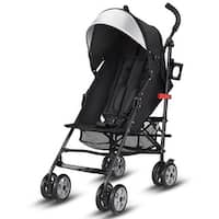 Costway Folding Lightweight Baby Toddler Umbrella Travel Stroller w/ Storage Basket - Black