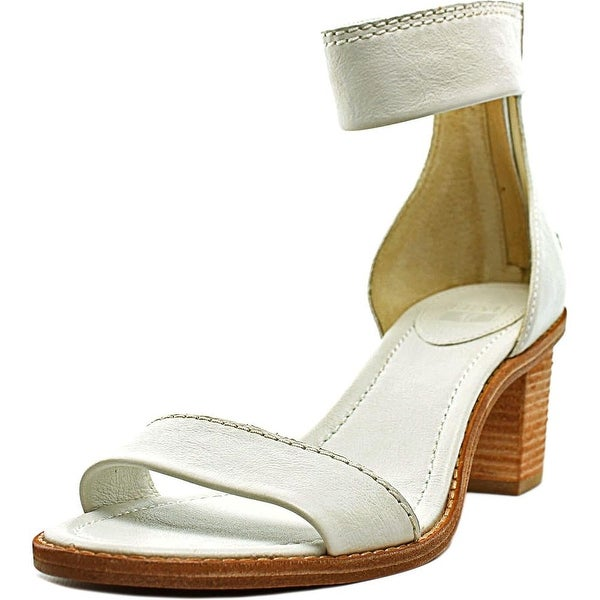 Frye Brielle Back Zip Open Toe Leather Sandals
