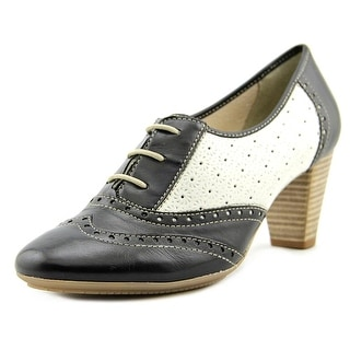 Novelty Ischia Round Toe Leather Oxford