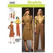 20W - 28W - Simplicity Misses Or Plus Size Blouse; S