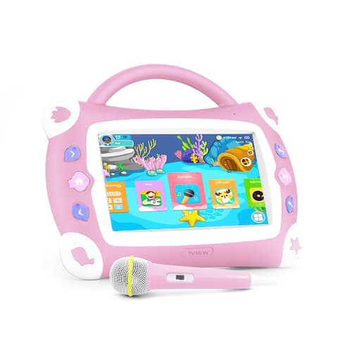 IVIEW 711TPC 7 inch Pink Color Kids Sing Pad with Microphone