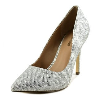 Call It Spring Agrirewiel Women  Pointed Toe Synthetic Silver Heels