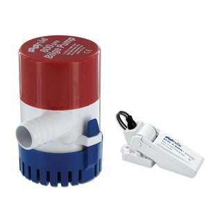 Rule 34530M RULE 800 GPH ROUND NON AUTO BILGE PUMP W/ SWITCH 3/4 OUT
